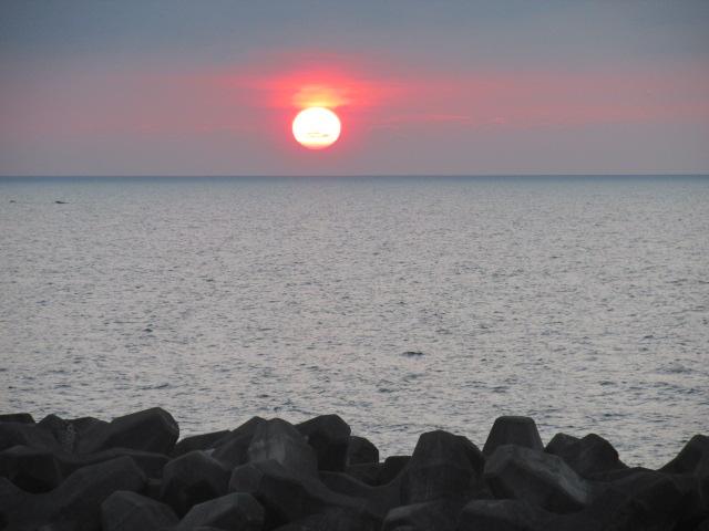 浦本地区からの夕日