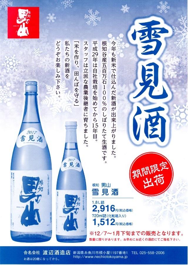 雪見酒2016パンフレット