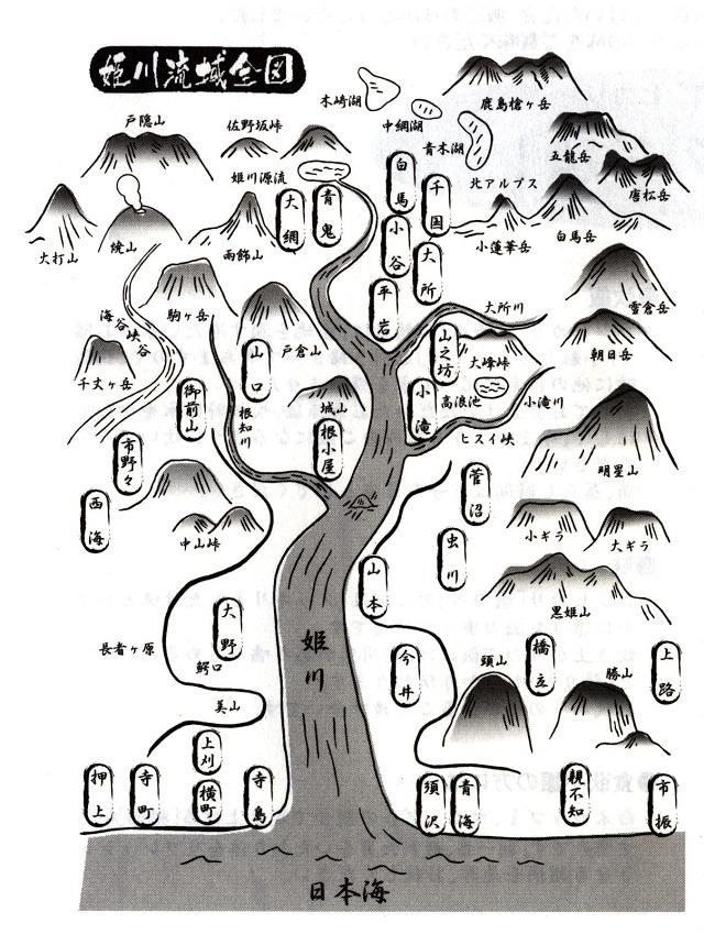 姫川流域全図